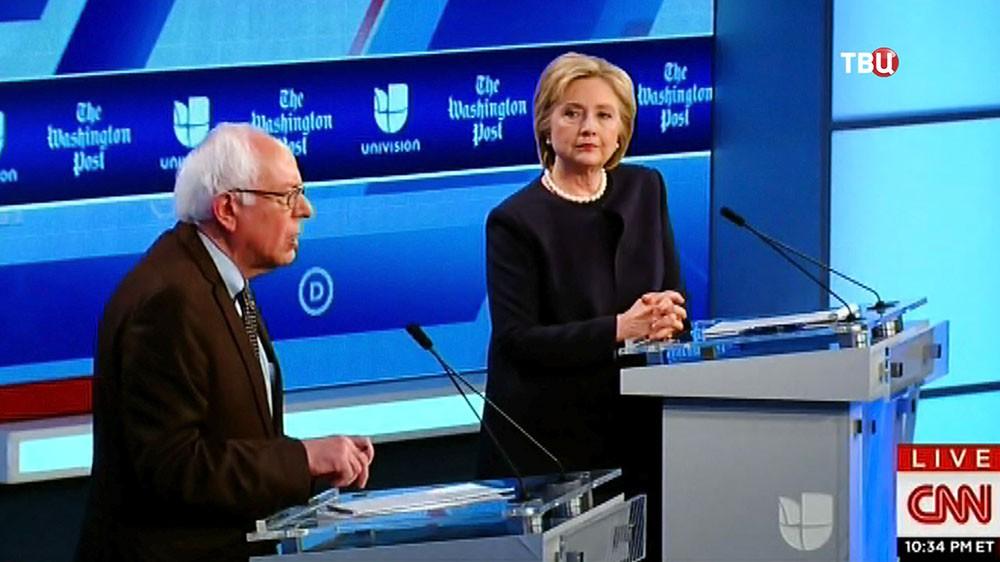 Хиллари Клинтон над Берни Сандерс