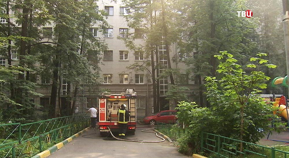 Возгорание в жилом доме в Уланском переулке