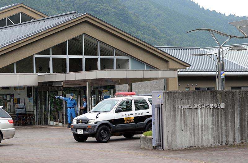 Полиция Японии на месте происшествия