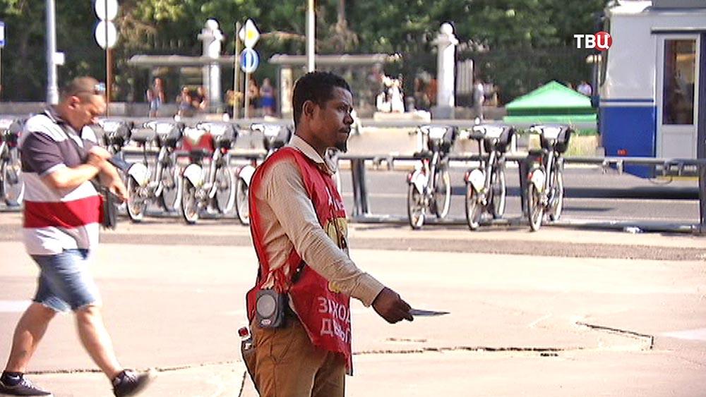 Уличная работа во время жары
