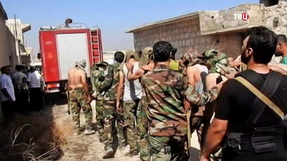 Сдавшиеся террористы в Сирии