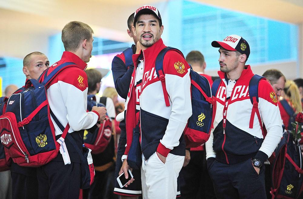 Спортсмены олимпийской команды России