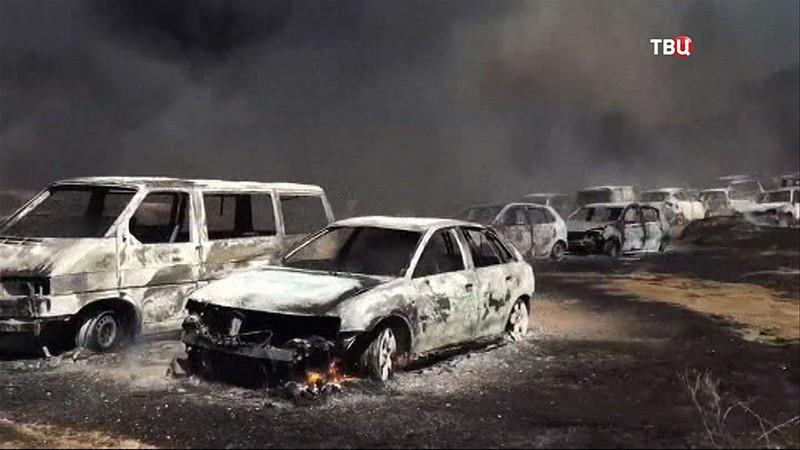 Свыше 400 авто сгорели на стоянке вПортугалии