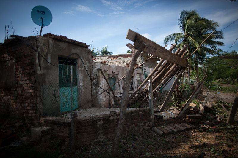 Последствия шторма в Мексике