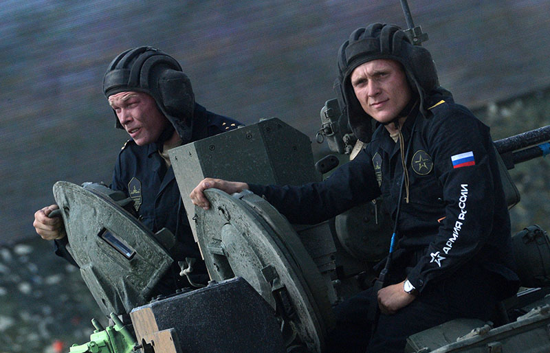 Экипаж танка Т-72Б3 армии России