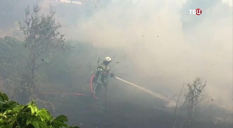 Пожары во Франции