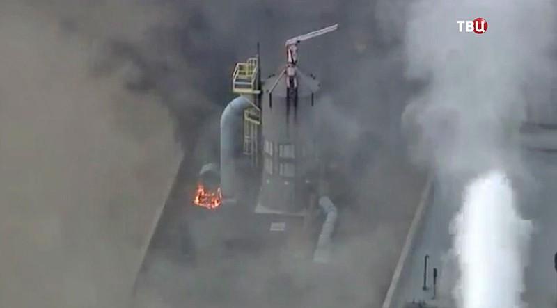 Вамериканском штате Мичиган вспыхнул сильный пожар наТЭЦ