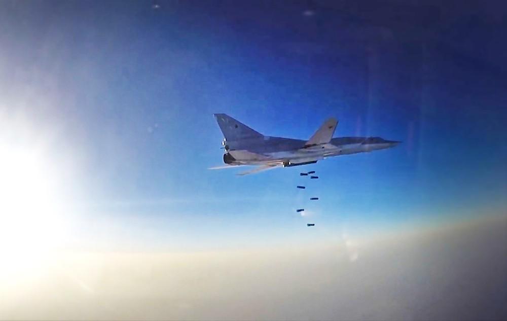 Бомбардировщик-ракетоносец Ту-22 ВКС России