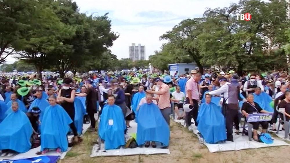 Протест против размещения ПРО США в Южной Корее