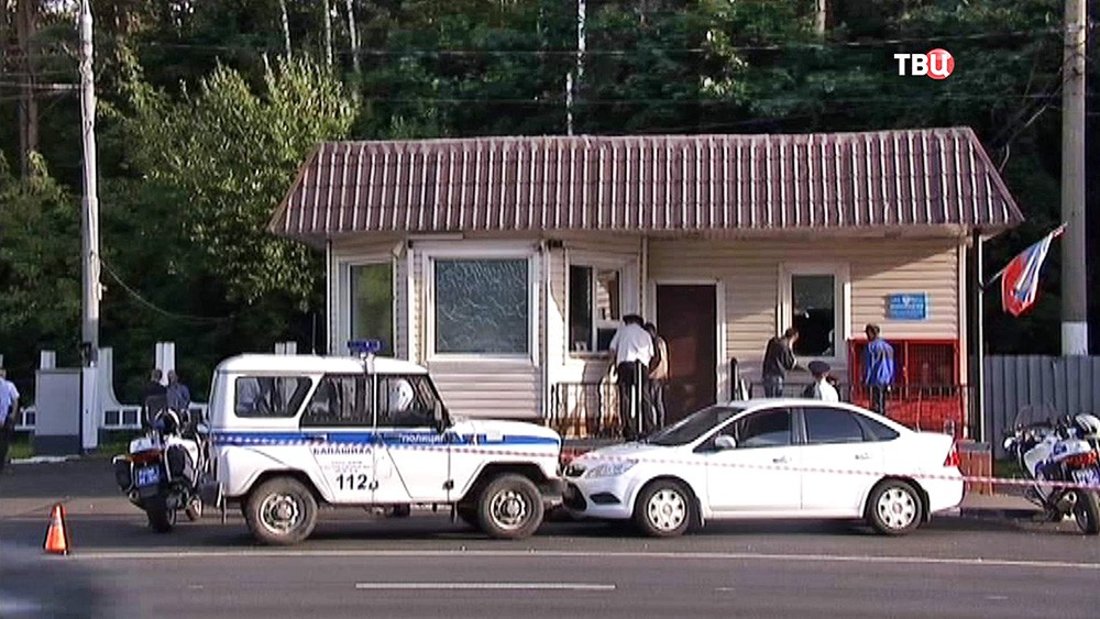 Следственные действия на месте нападения на пост ДПС на Щелковском шоссе