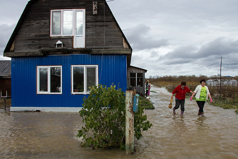 Последствия тайфуна на Сахалине
