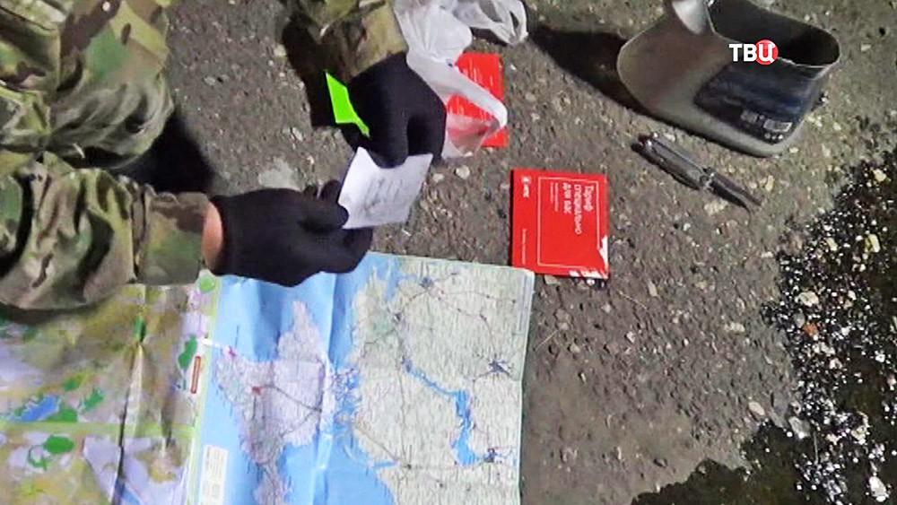 Изъятые вещи у украинских диверсантов в Крыму