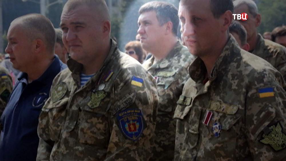 Задержанный сотрудник ГУР министерства обороны Украины Евгений Панов на фото