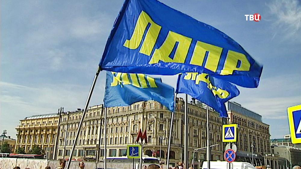 Флаги партии ЛДПР