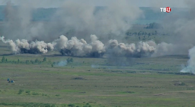 Учения артиллеристов в Челябинской области