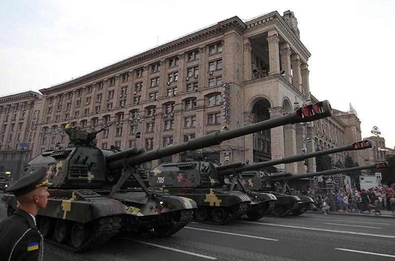 Репетиция парада военной техники в Киеве