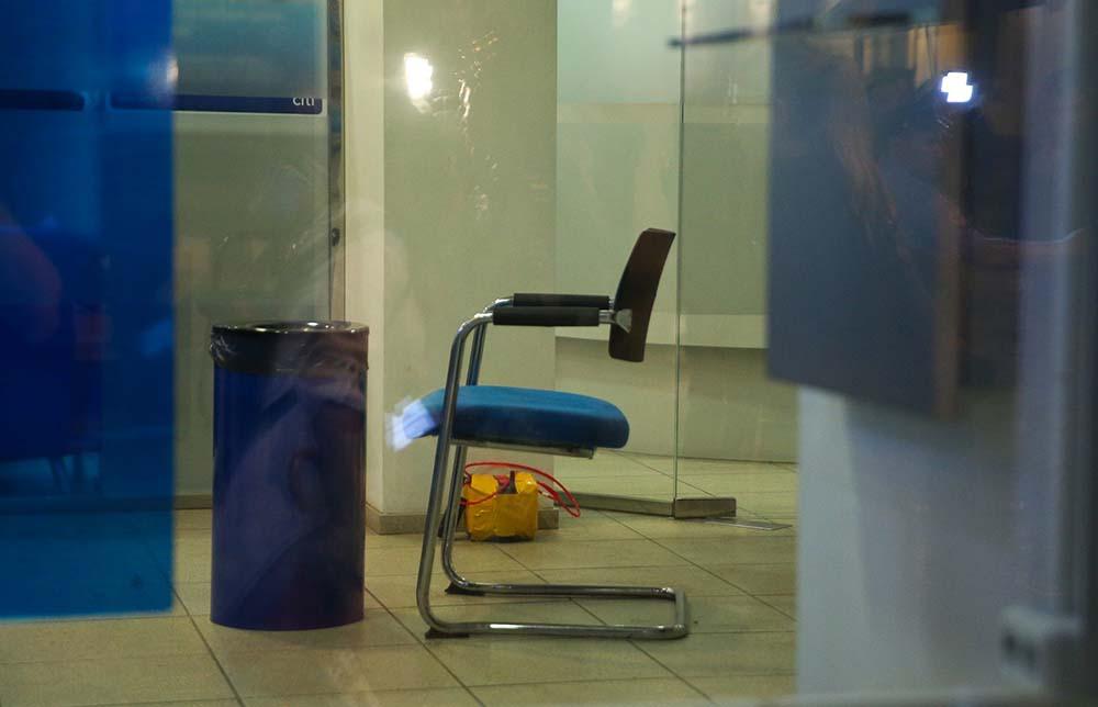 Муляж бомбы, которая была на шее у мужчины, захвативший отделение банка на ул. Большая Никитская