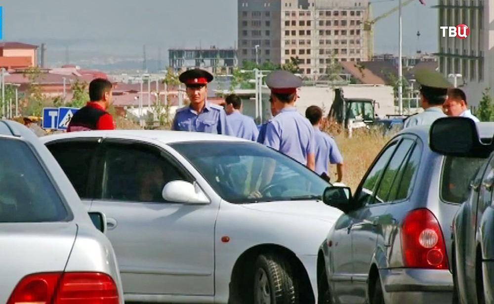Полиция Киргизии на месте происшествия