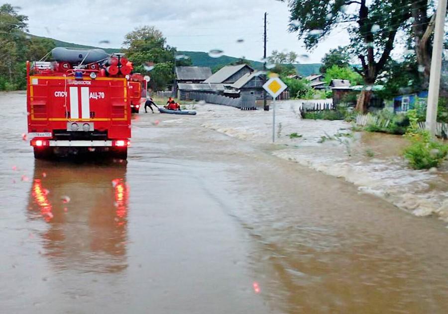 ВПриморье остаются подтопленными неменее тысячи домов