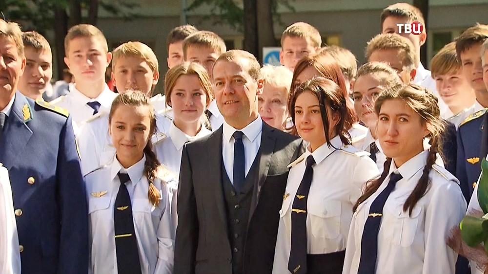 Дмитрий Медведев посетил колледж железнодорожного транспорта