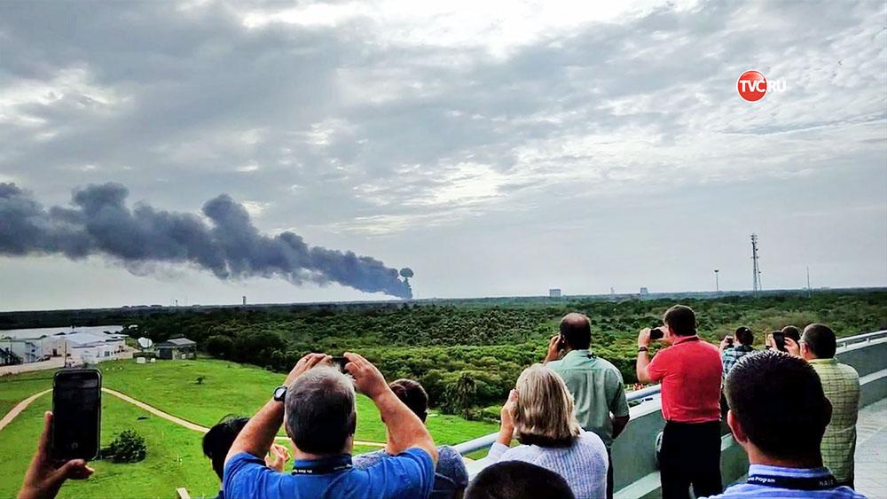 Взрыв ракеты Falcon 9 на мысе Канаверал