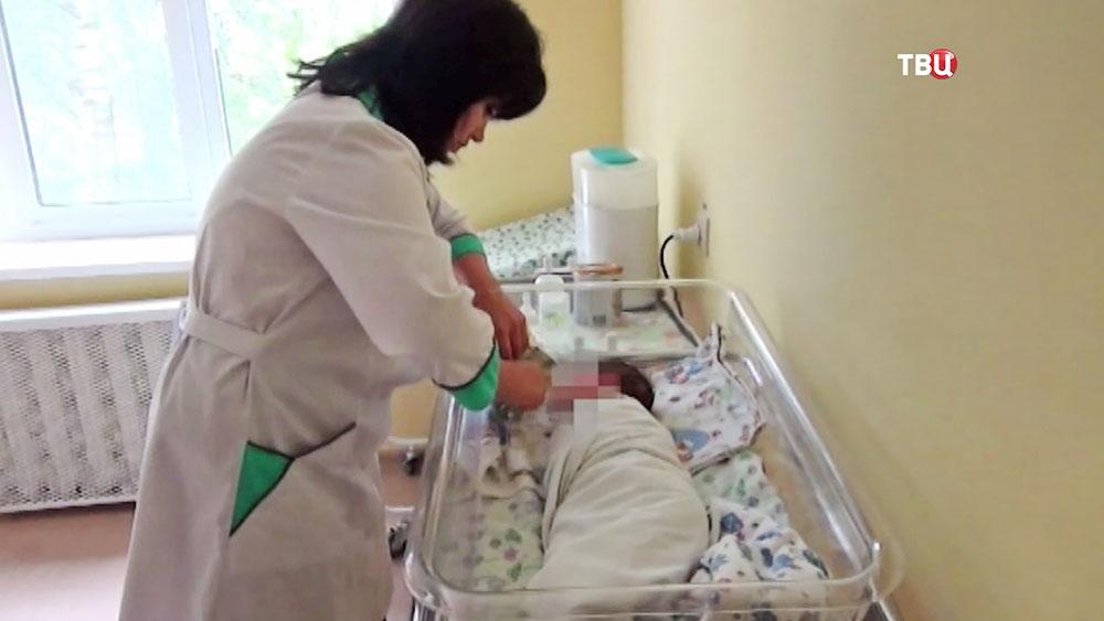 Брошенный младенец в больнице