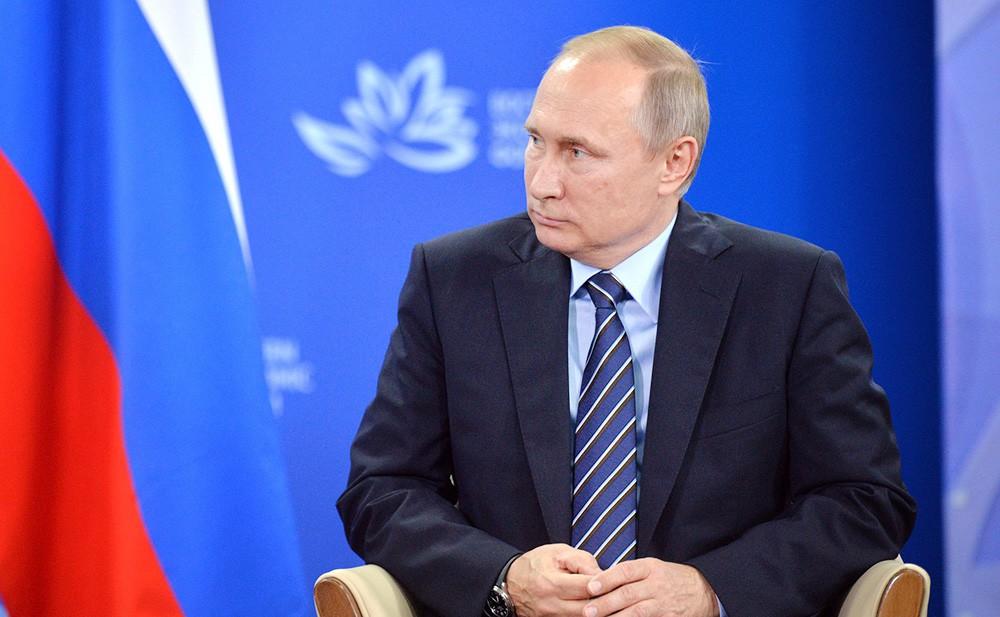 Президент России Владимир Путин на Восточном экономическом форуме