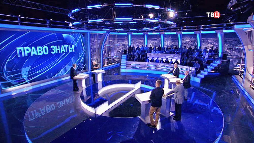 """Карен Шахназаров в студии программы """"Право знать!"""""""