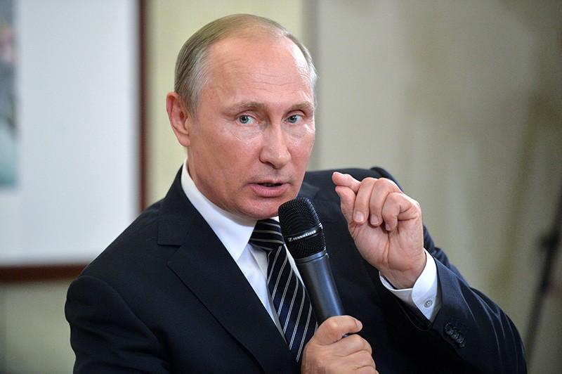 Президент России Владимир Путин на пресс-конференции по итогам саммита G20 в Ханчжоу