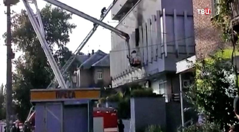 «Интер» обнародовал видео поджога своего офиса