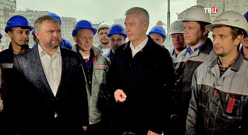 Сергей Собянин на открытии Волоколамского путепровода