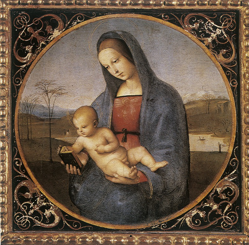 "Картина ""Мадонна с младенцем"" (Мадонна Конестабиле) художника Рафаэля Санти"