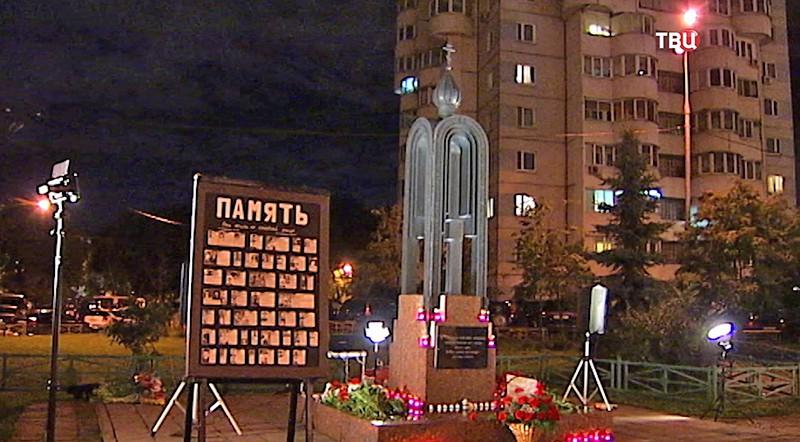 Место теракта на улице Гурьянова