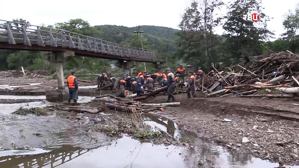 Ликвидация последствий паводка в Приморье
