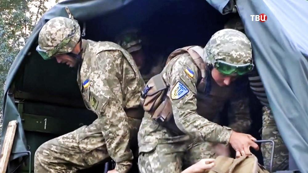 """Военнослужащие украинского батальона """"Айдар"""""""