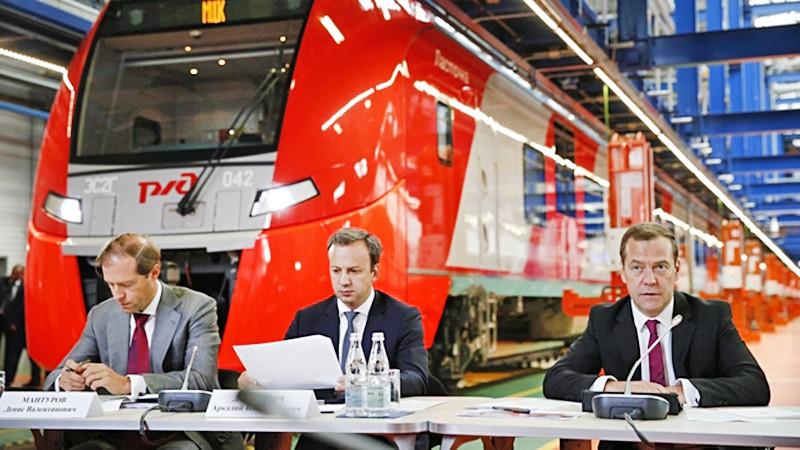 Дмитрий Медведев на совещание по вопросам развития пассажирских перевозок железнодорожным транспортом