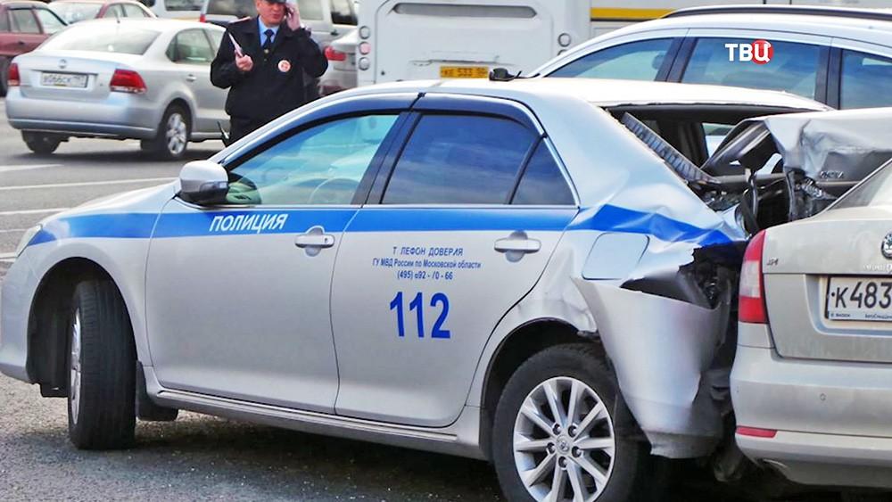 ДТП с участием машины полиции
