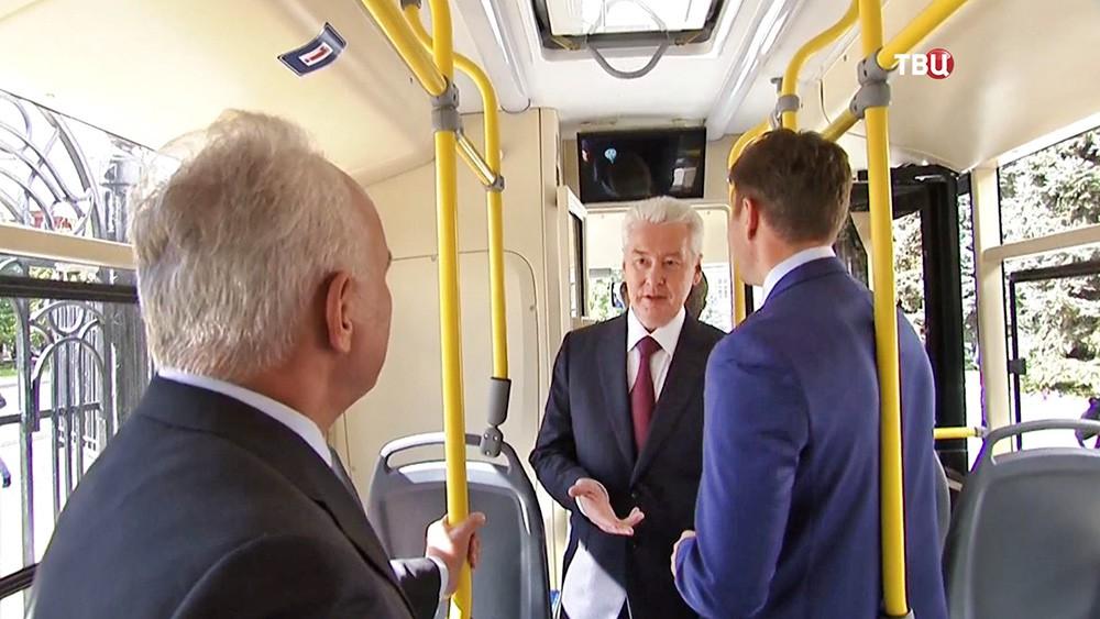 Сергей Собянин осмотрел новые автобусы