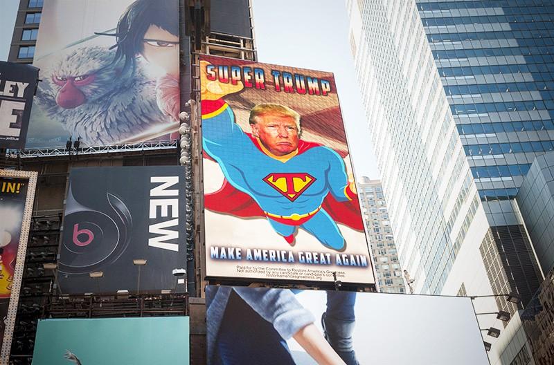 Билборд с изображением Дональда Трампа
