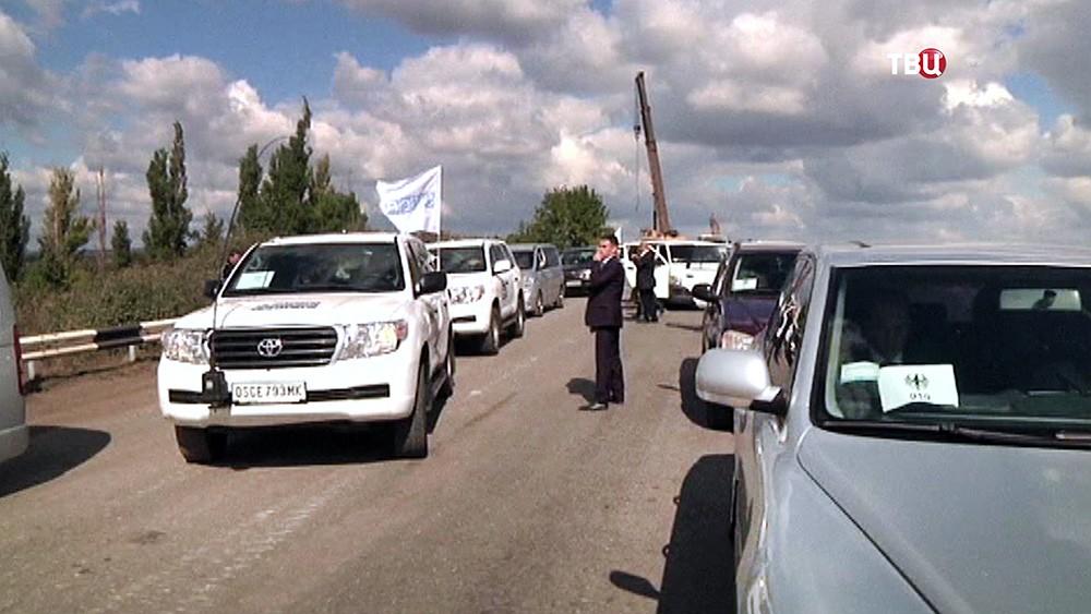 Автомобили ОБСЕ в Донбассе