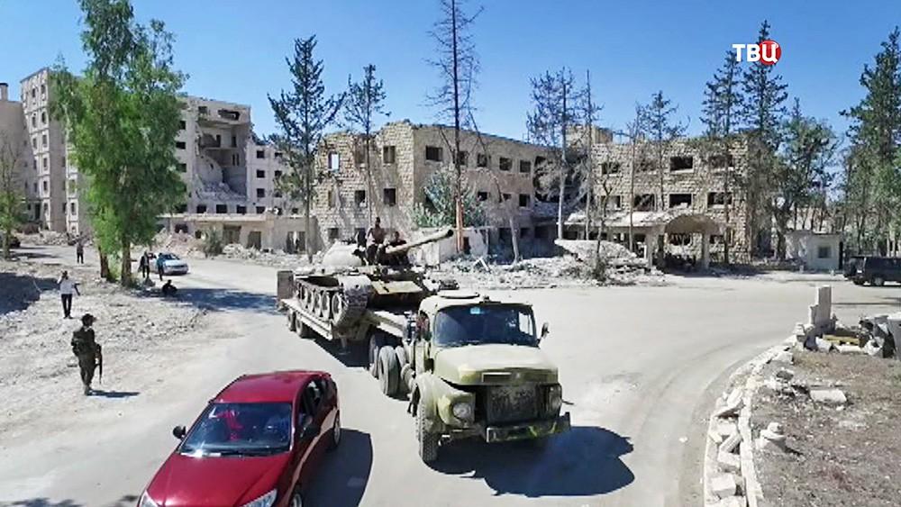 Отвод военной техники в Сирии