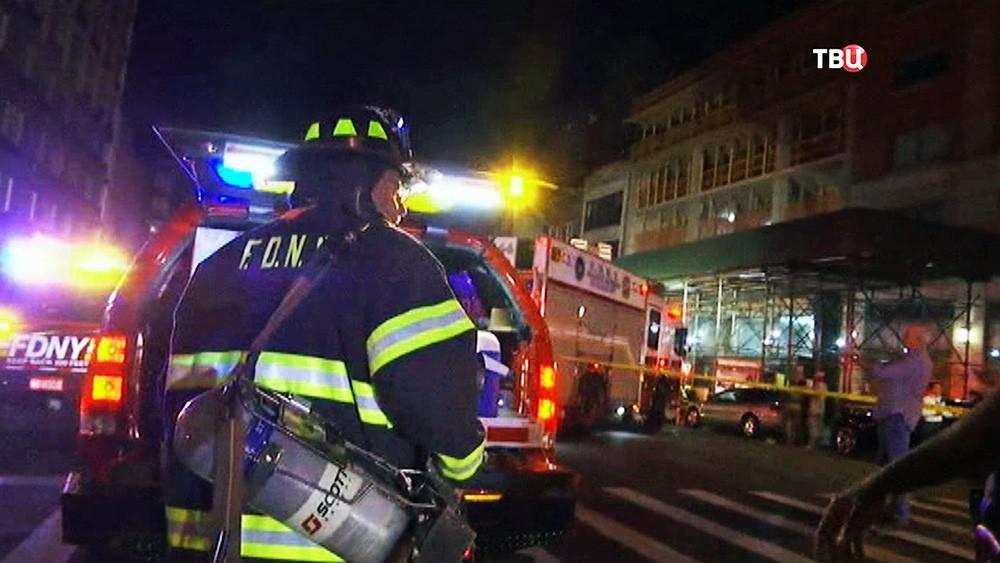 Спасатели США на месте происшествия
