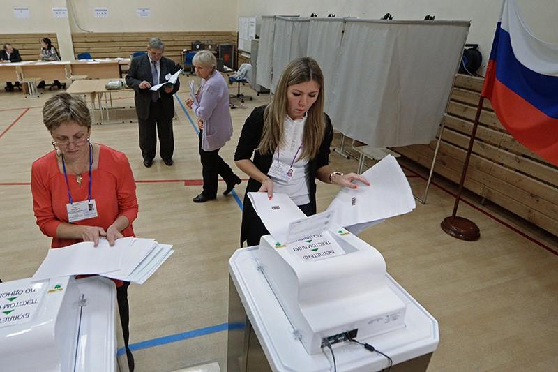 Подсчет голосов на одном из избирательных участков