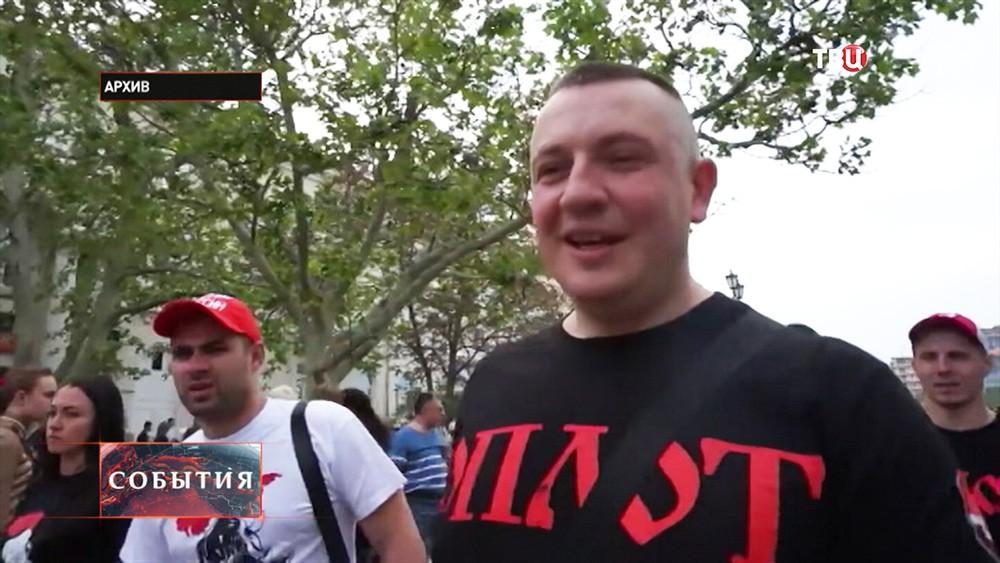 """Лидер украинской организации """"Оплот"""" Евгений Жилин"""
