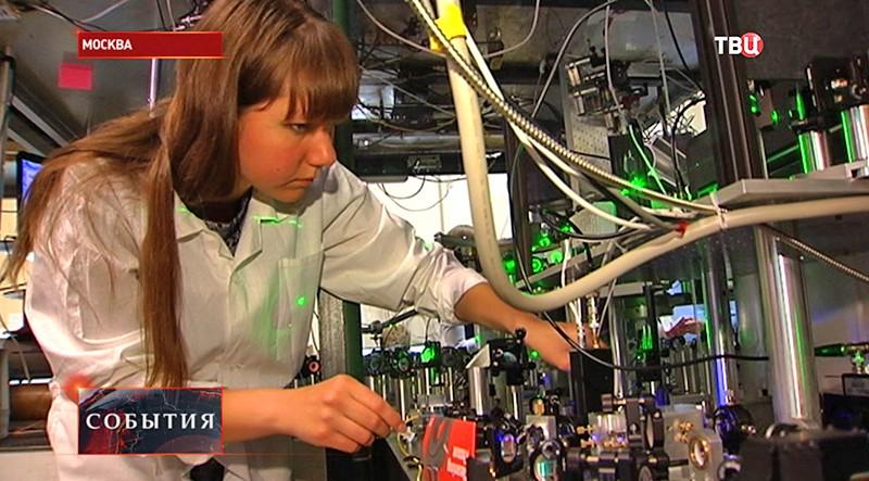 Физик в лаборатории