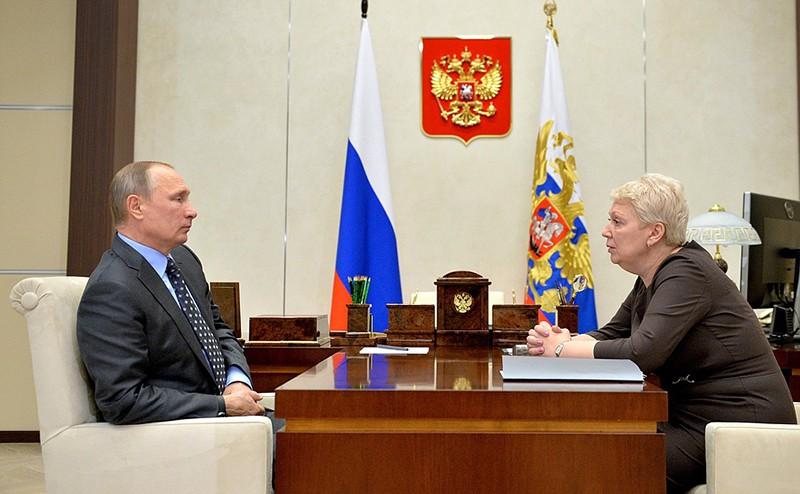 Глава Минобрнауки Ольга Васильева на встрече с президентом Владимиром Путиным