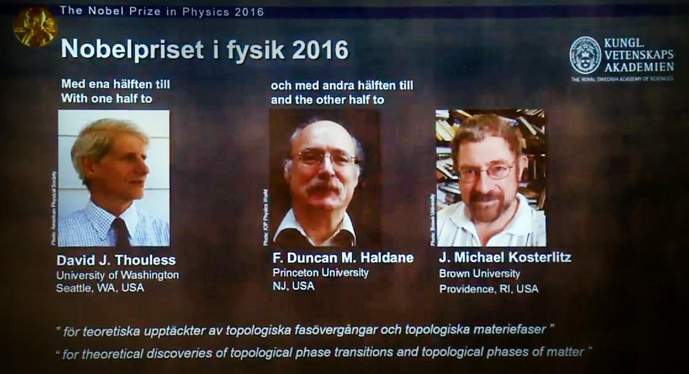 Лауреаты Нобелевской премии по физике 2016 года