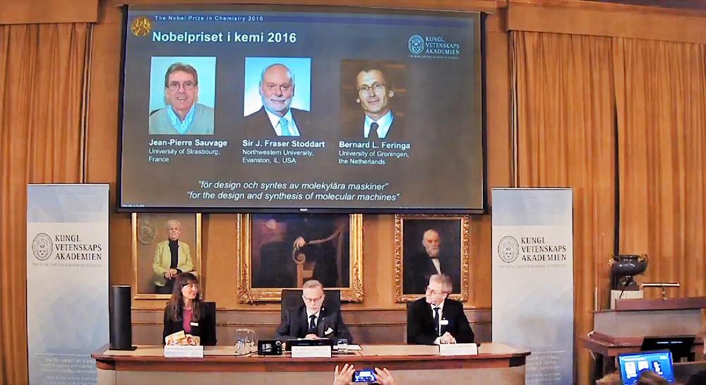 ВСтокгольме вручили Нобелевскую премию похимии