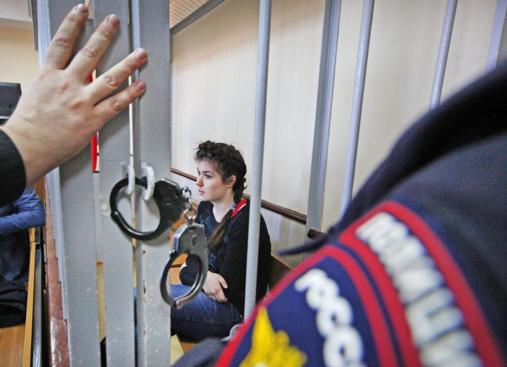 Студентка МГУ Варвара Караулова, обвиняемая в попытке участия в деятельности ИГ