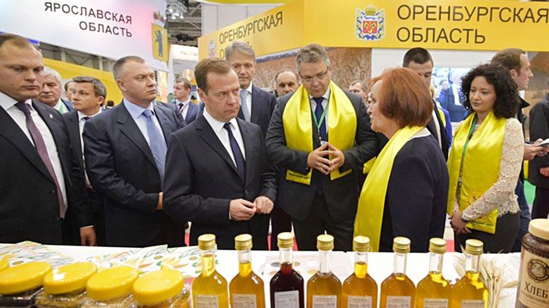 Дмитрий Медведев на агропромышленной выставке